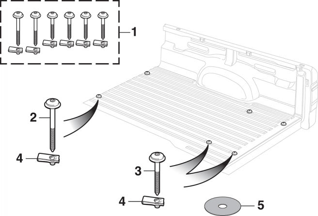 Bed Mounting Hardware