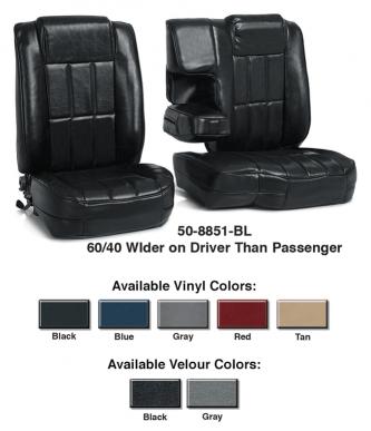 60\40 Bucket Seat Reupholstery Kits