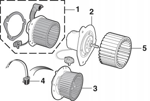 Blower Motor and Heater Fan