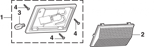 Dome Light Components - Single Beam