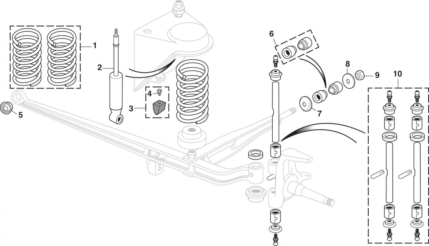 Front Suspension - 2 Wheel Drive