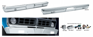1973-79 Custom Chrome Bumpers Lighted for Your Truck or Bronco
