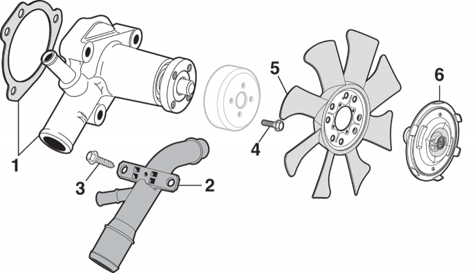Water Pump, Fan and Components