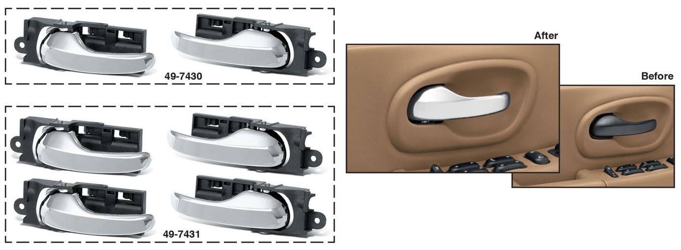 Chrome Inside Door Handle Sets