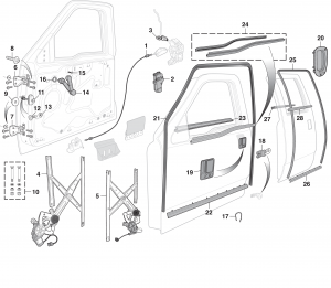 LMC Truck: Door Parts | 99 Gmc Truck Wiring Diagramthe Power Windows Door Locks Mirror |  | LMC Truck