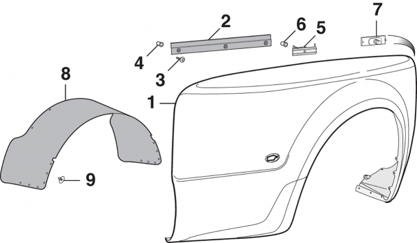 Dually Rear Fender and Components