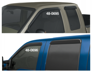 Flared Side Window Deflectors ... Keep Your Window Open and Weather Out