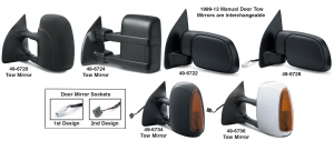 Reproduction Tow and Door Mirrors