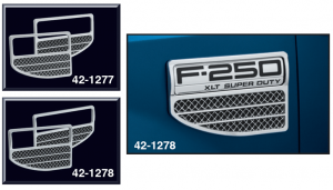 Super Duty Style Chrome Simulated Fender Vent Sets