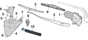 Windshield Wiper and Components