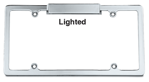 Chrome Lighted License Frame