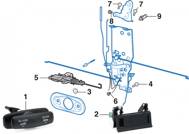 Liftgate Latch Components
