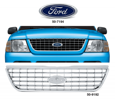All Chrome Replacement Grille