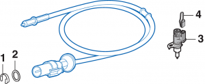 Speedometer Cable Components and Speed Sensors