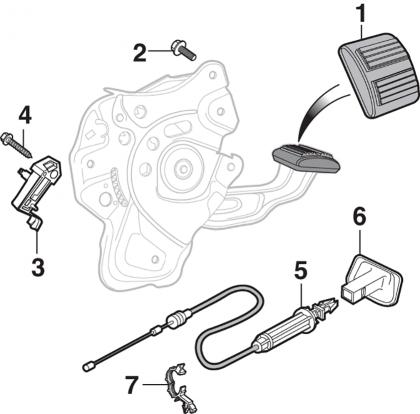 Parking Brake Pedal Components - 2nd Design