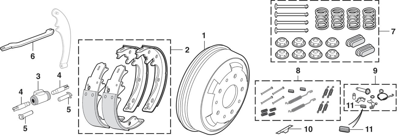 4WD Rear Drum Brakes