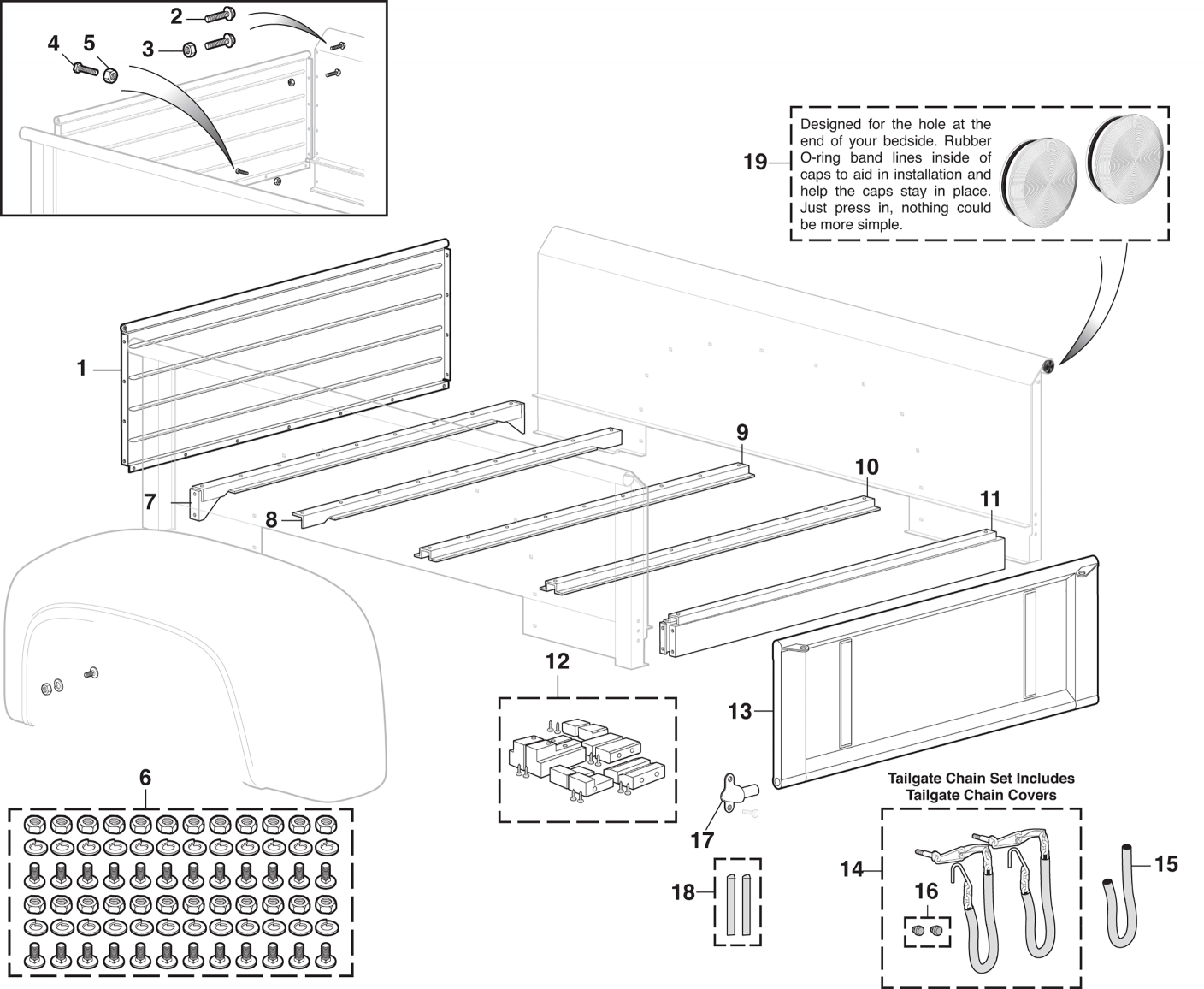 Stepside Steel Bed Components