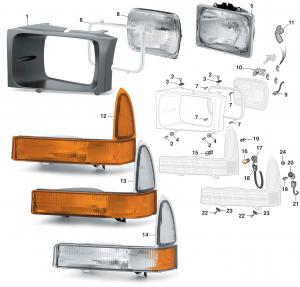 Headlight and Parklight - Sealed Beam Style