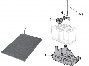 Battery Tray and Battery Mat
