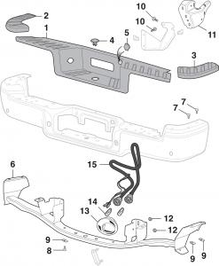 Flareside Rear Step Bumper Components