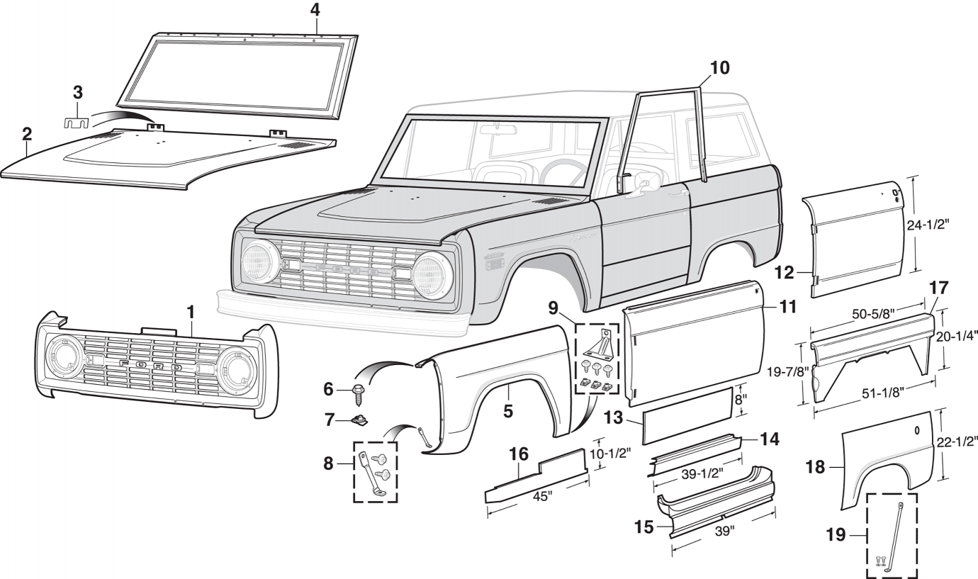 Steel Outer Body Parts