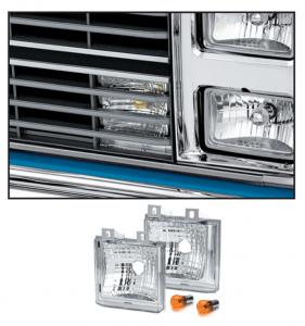 Custom Parklight Set 1983-87 Dual Headlight 1988  Crew Cab
