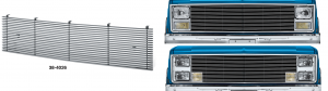 1981-88 Billet Aluminum Grilles with 4MM Bars