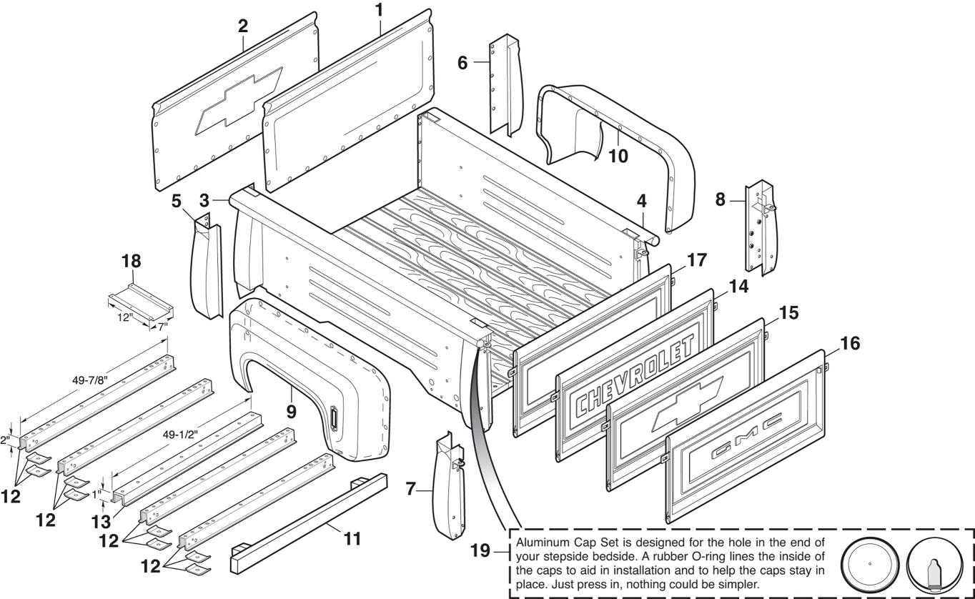 1973-87 Stepside Steel Bed Panels