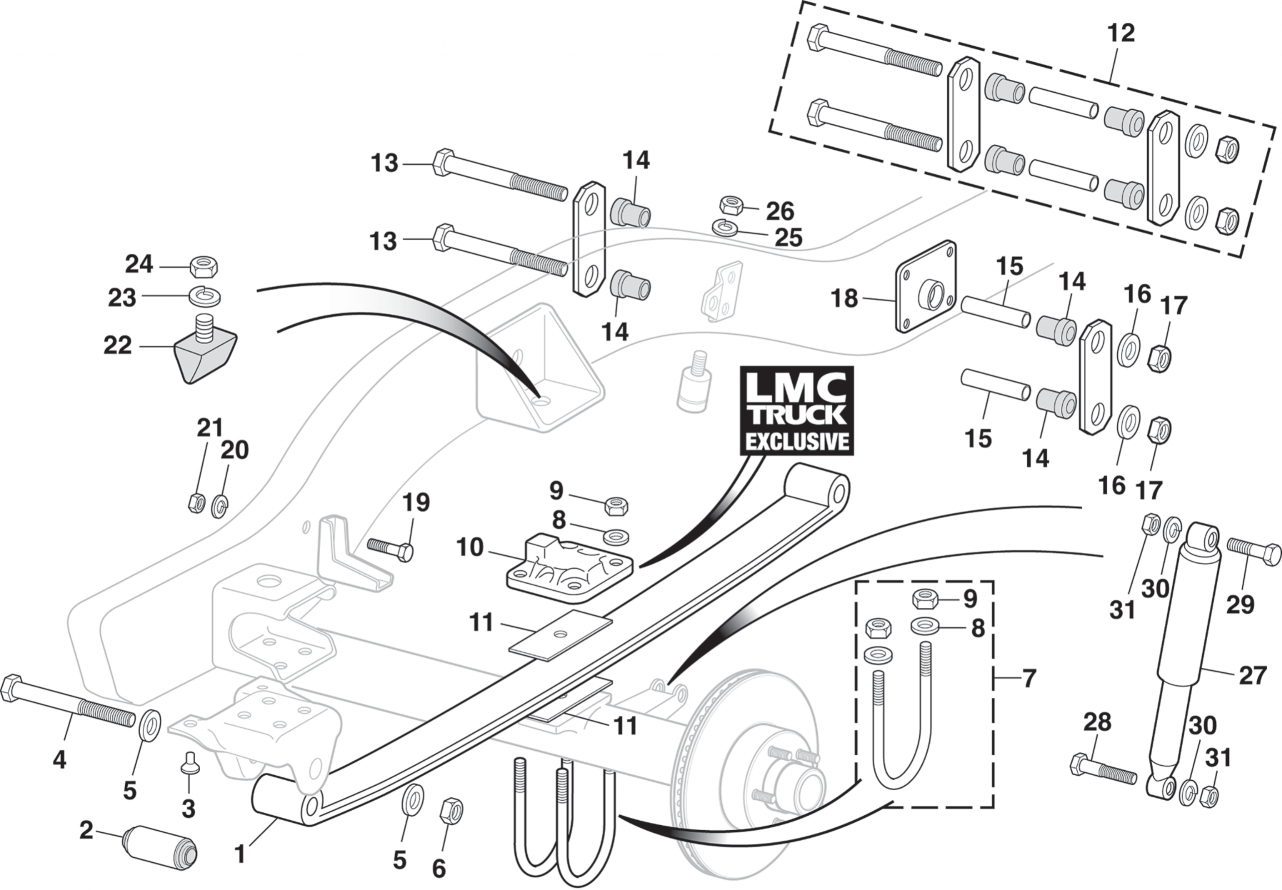 1973-87 Front Suspension - 4 Wheel Drive