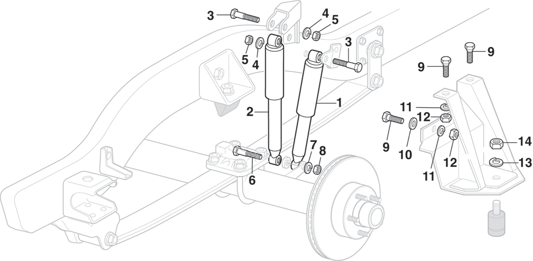 1981-87 Front Quad Shock Absorbers - 4WD