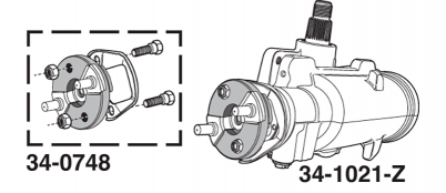 1973-76 Quick Ratio Power Steering Gear