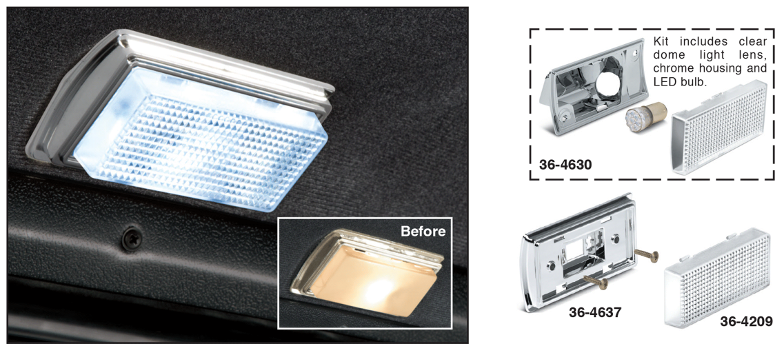 1973-89 Clear Dome Light Lens ... For a Brighter Light and a Cleaner Look