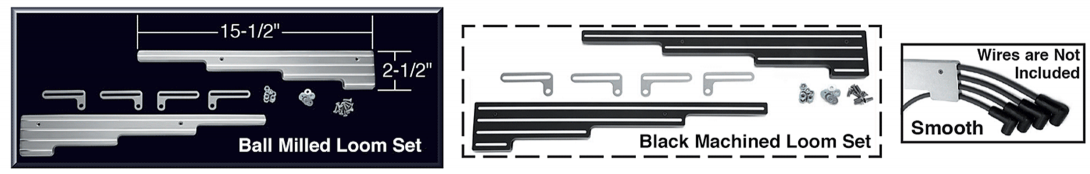 1973-86 Billet Aluminum Wire Loom Set