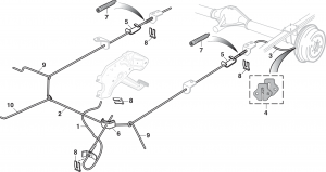 Parking Brake Cables - 2WD