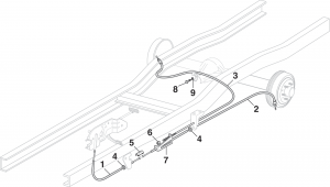 1984-89 Parking Brake Cables