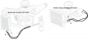 1985-89 Engine Oil Cooler Hose Assemblies