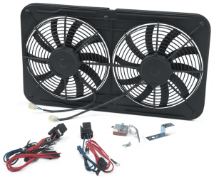 1973-89 Dual Electric Cooling Fan Assembly … For Improved Cooling, Fuel Economy and Power