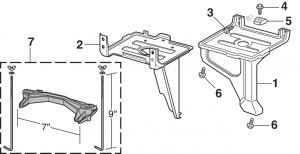 1981-89 Battery Tray