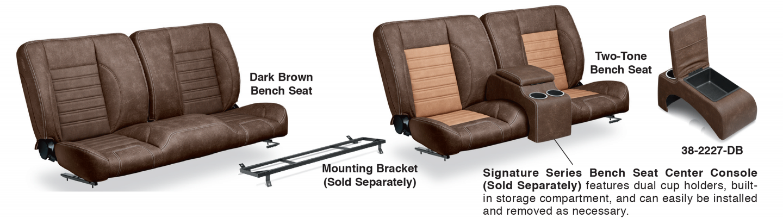 1973-87 LMC Signature Series Front Bench Seats