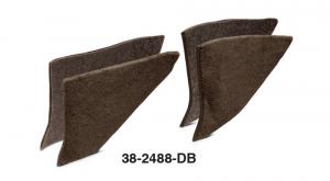 1973-91 Dark Brown Kick Panel Carpet Set