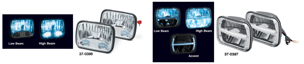 200MM LED Headlight with Accent Light