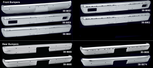 Premium Chrome Front and Rear Bumpers