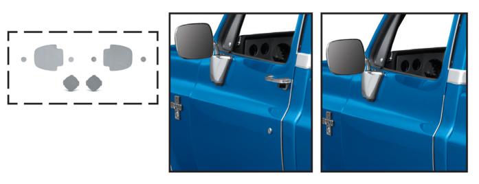 1973-91 Door Handle Filler Panels
