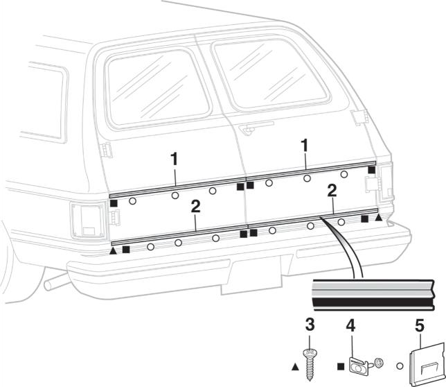 Rear Cargo Door Molding
