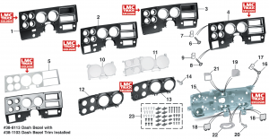 Dash Bezels and Components