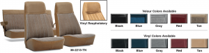 Velour and Vinyl Seat Reupholstery Kits