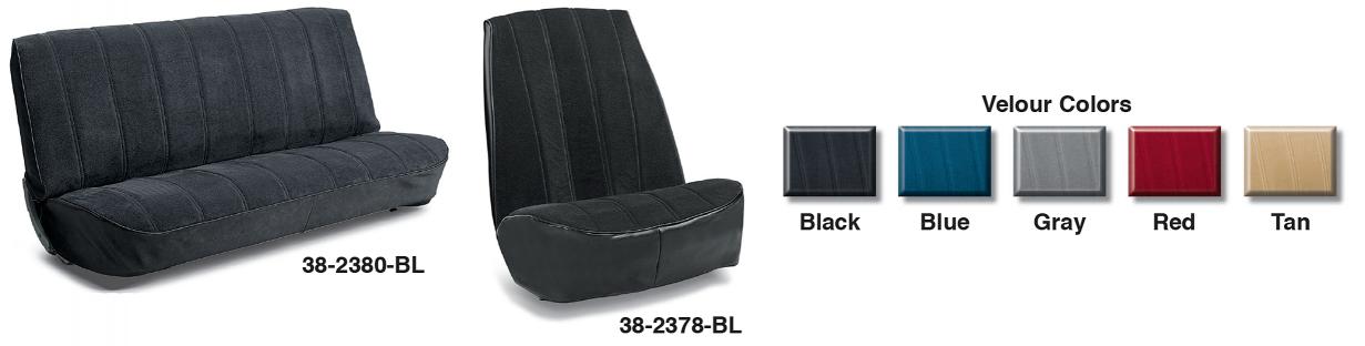 Velour Reupholstery Seat Kits