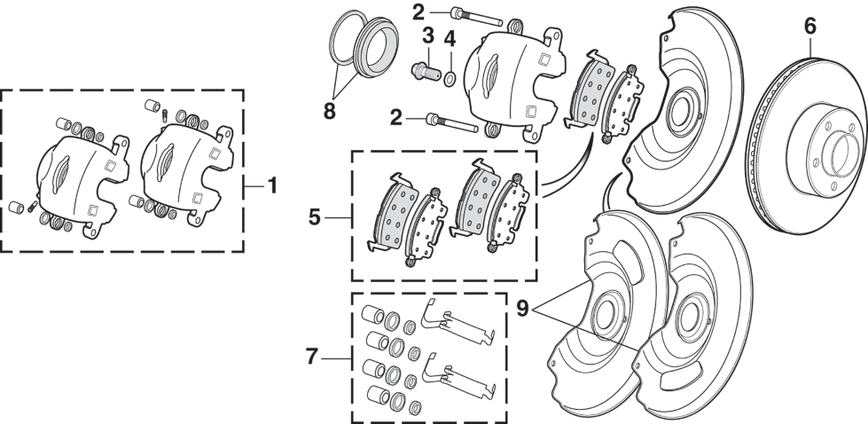 Front Disc Brake Components