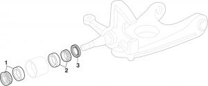 Front Wheel Bearings - 2 Wheel Drive
