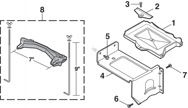 Auxiliary Battery Tray